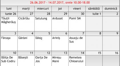 Calendar animări 26 iunie – 14 iulie 2017